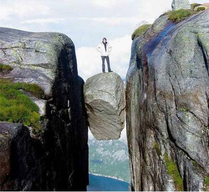 Rock Preikestolen Norway