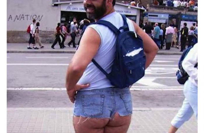 man in hot pants