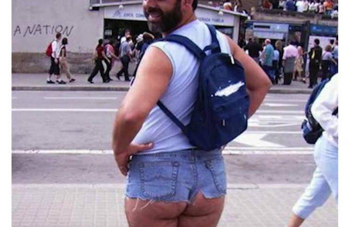man in hot pants