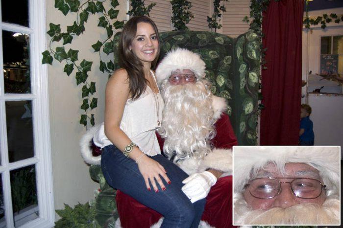 naughy santa watcing girl