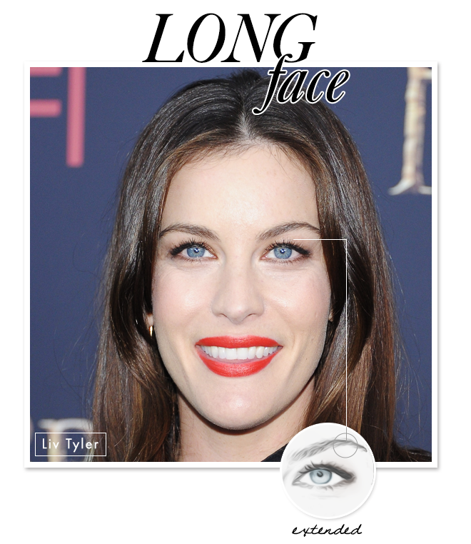 eyebrow shape for long face