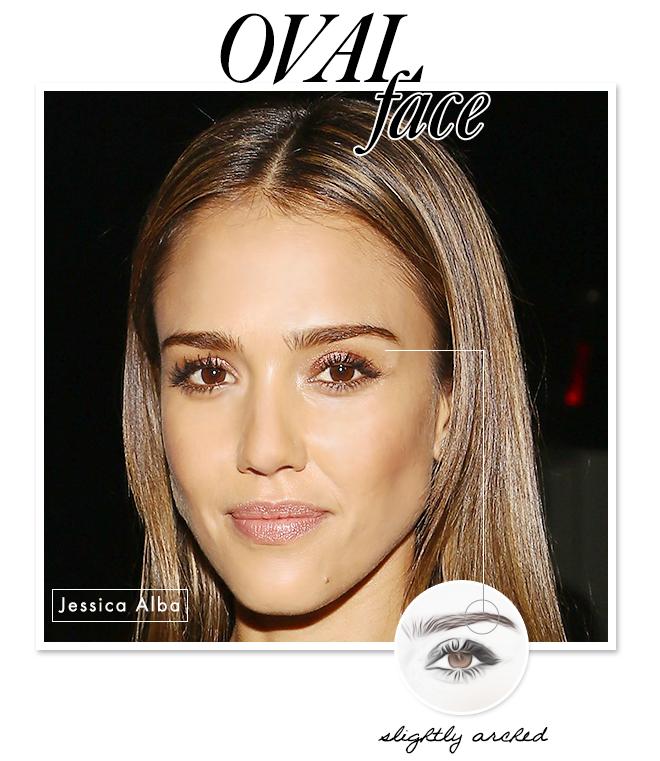 eyebrow shape oval face