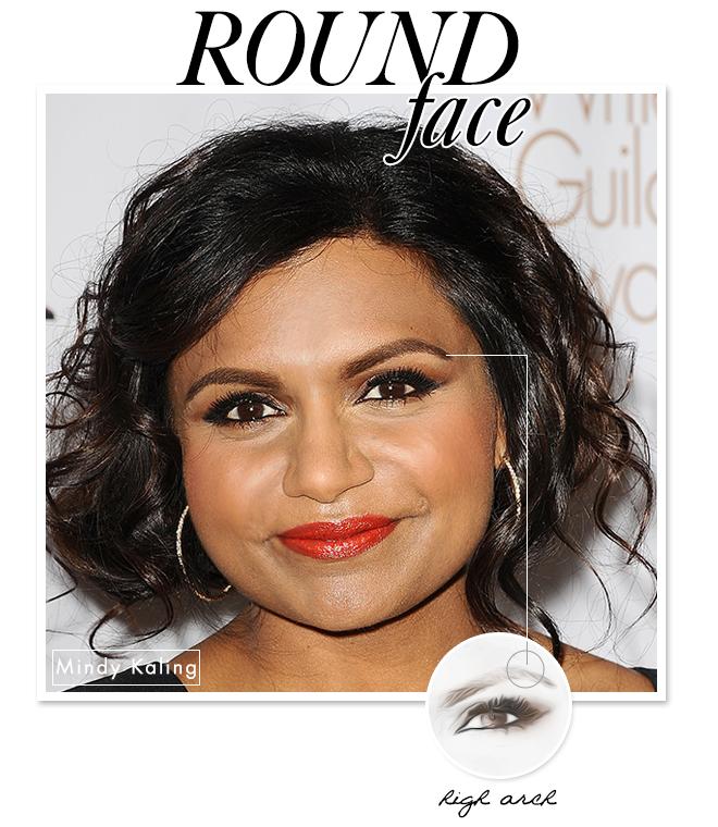 eyebrow shape round face tips