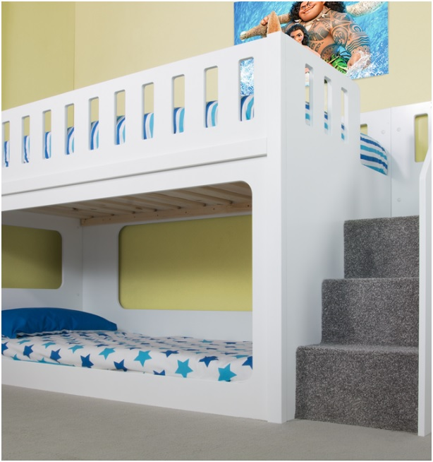 Use bunk beds for kids