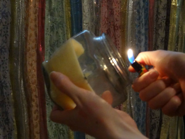 life hack candle wick