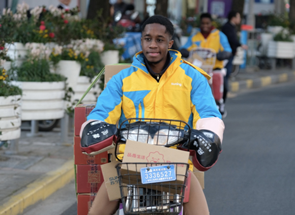 become a delivery man to earn money