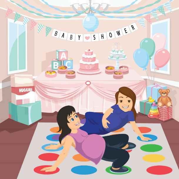 baby twister baby shower game