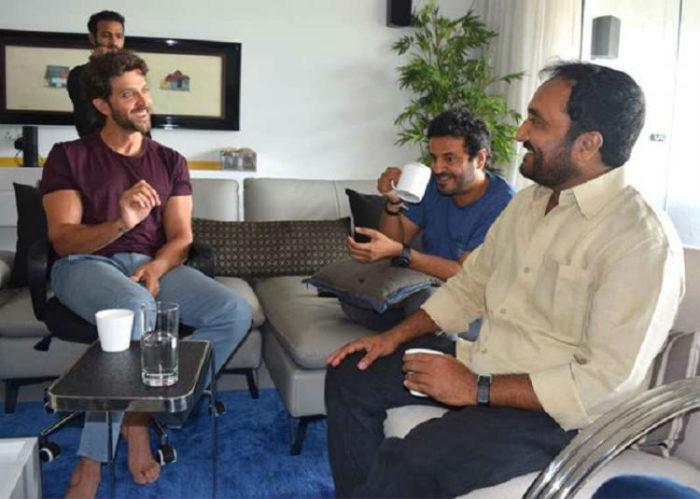 Anand kumar with Hrithik Roshan