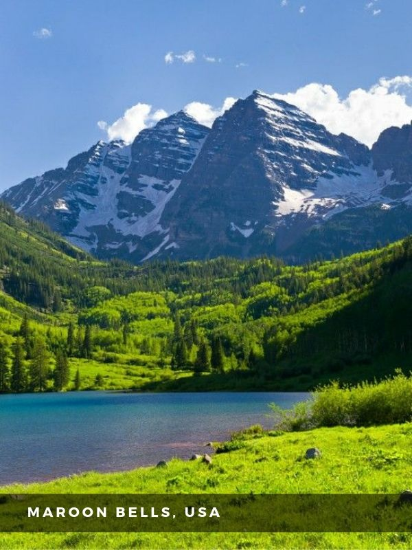 Worlds Best Places To Travel - MAROON BELLS, USA
