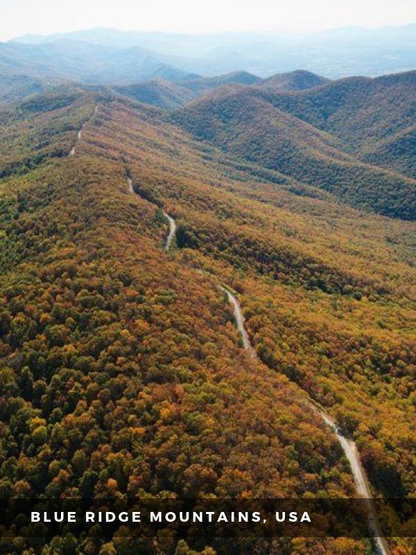 Worlds Best Places To Travel - BLUE RIDGE MOUNTAINS, USA