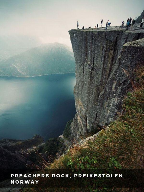 Worlds Best Places To Travel - PREACHERS ROCK, PREIKESTOLEN, NORWAY