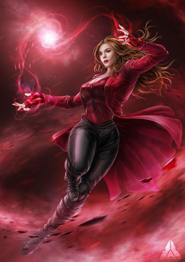 Female Superheroes - Scarlett Witch ( Wanda Maximoff )