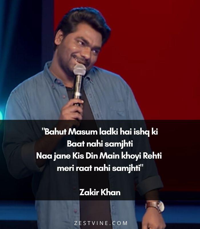zakir khan's shayari