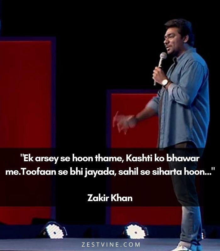 Zakir Khan's poetry