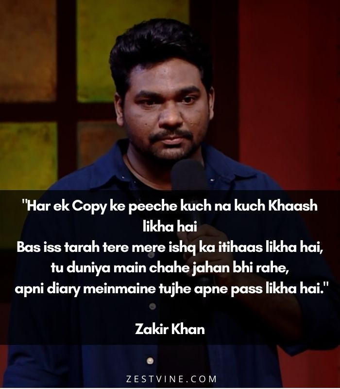 zakir khan's poems