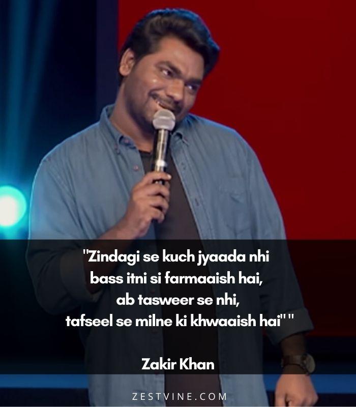 Zakir Khan's Shayaris