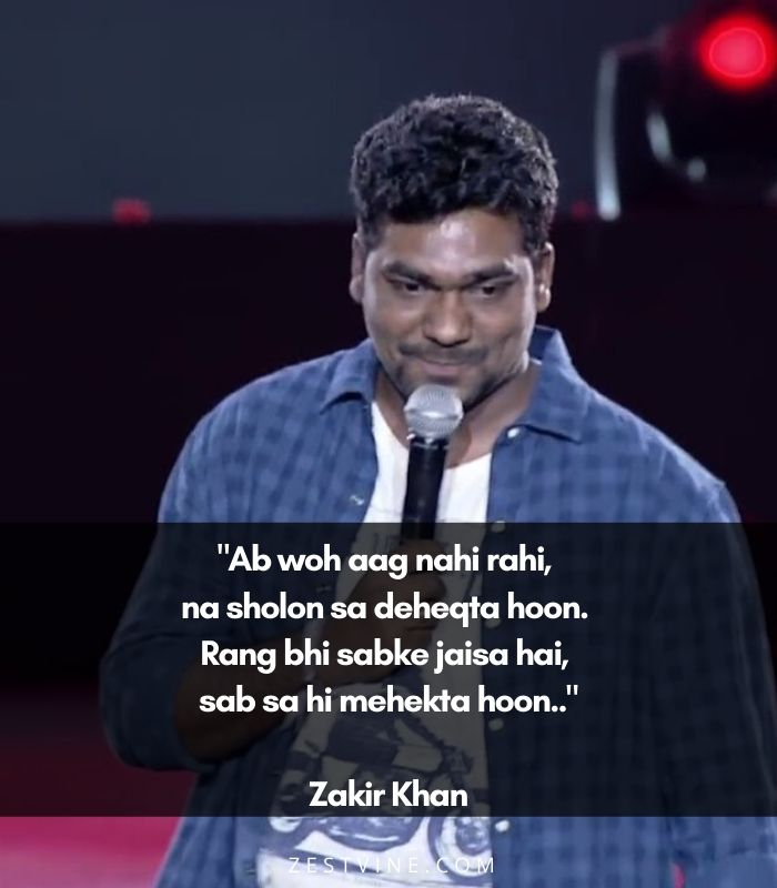 Zakir Khan's Unknown Shayaris