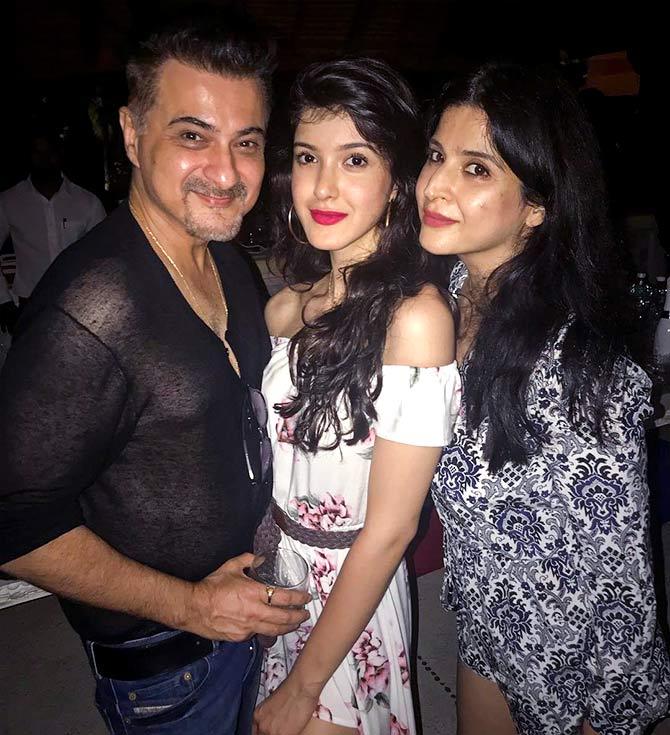 Sanjay Kapoor and Mahdeep Sandhu with Daughter Shanaya Kapoor