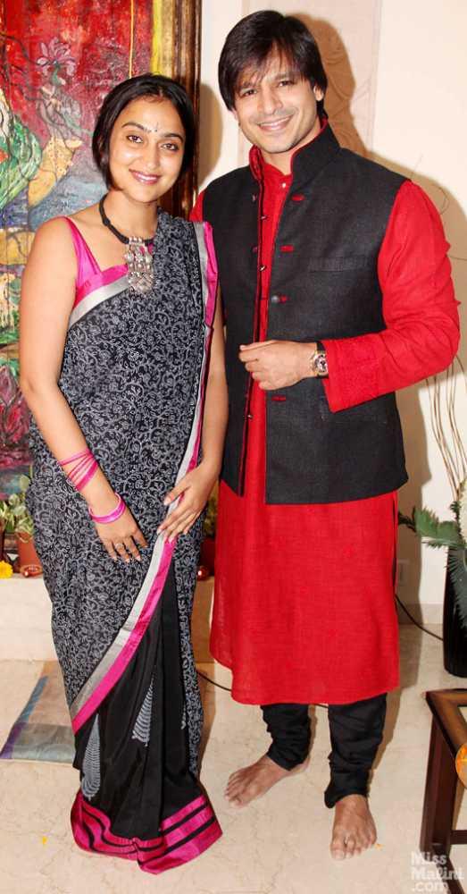 Vivek Oberoi and Priyanka Alva Oberoi