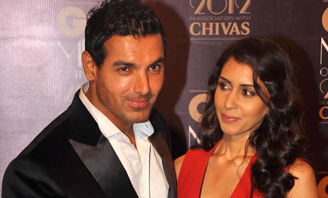 John Abraham with wife Priya Runchal
