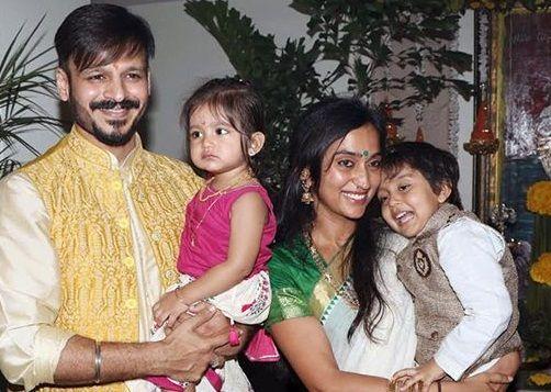 Vivek Oberoi and Priyanka Alva Oberoi Kids