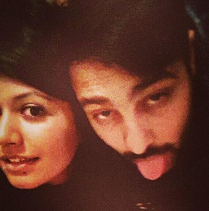 Badshah with wife Jasmine