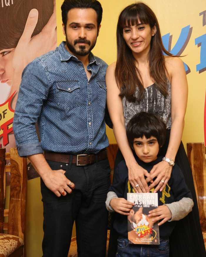 Emraan Hashmi and Parveen Shahani with Son Ayaan