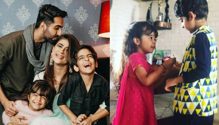 Ayushmann Khurrana and Tahira Kashyap with Kids