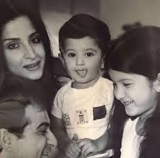 Sanjay Kapoor and Mahdeep Sandhu with Kids