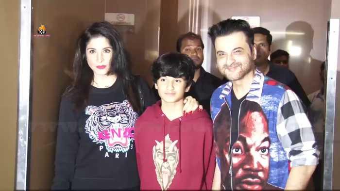 Sanjay Kapoor and Mahdeep Sandhu with Son Jahaaan Kapoor