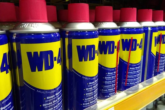 WD-40 rubbing alcohol Vinegar citrus solvent