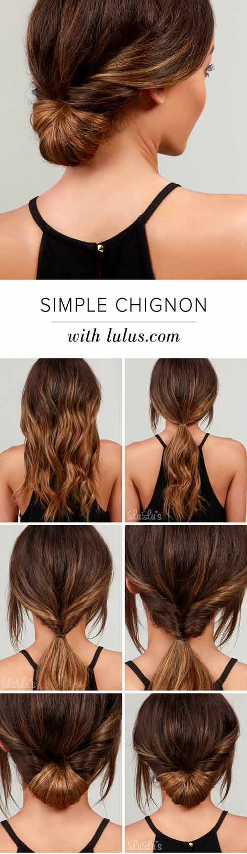 Simple-Chignon hairstyle
