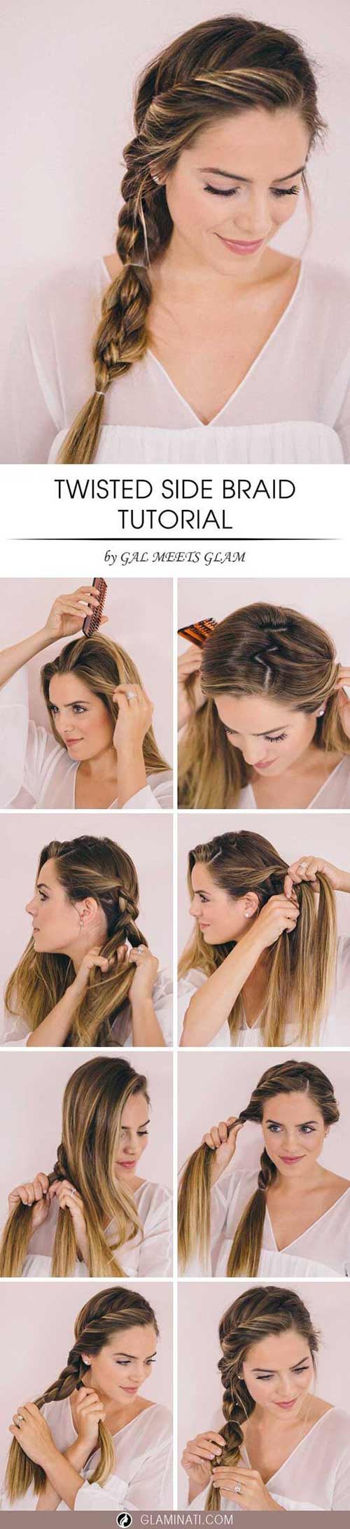 Twisted-Side-Braid hairstyle