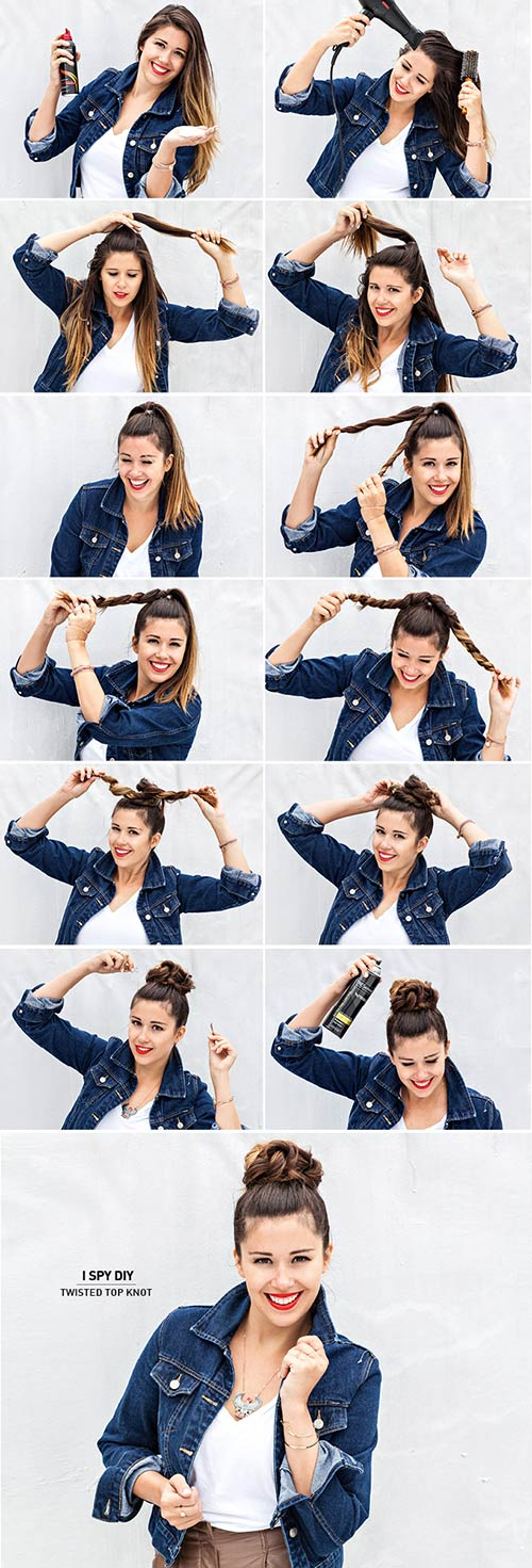 Twisted-Top-Knot hairstyle