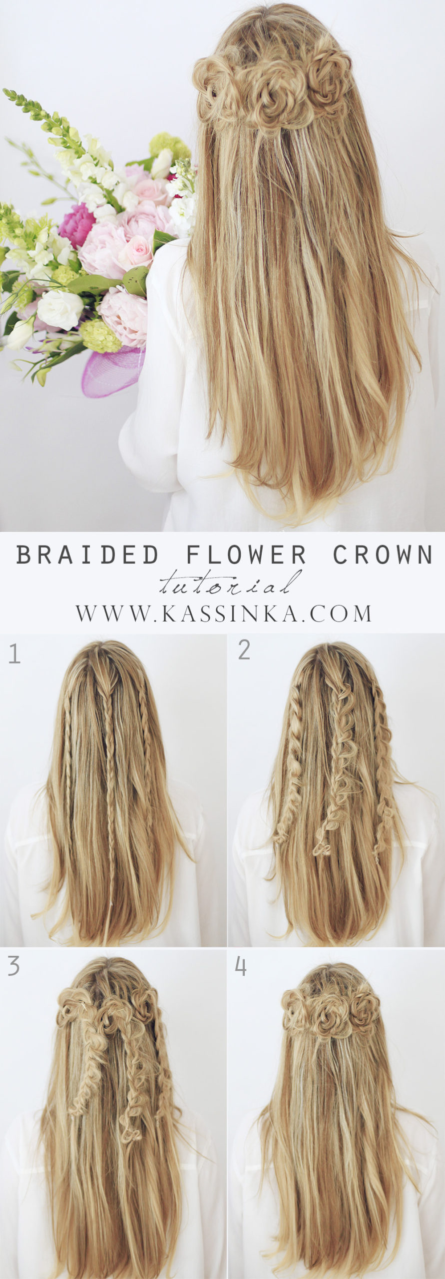 braided flower crown hairstyle