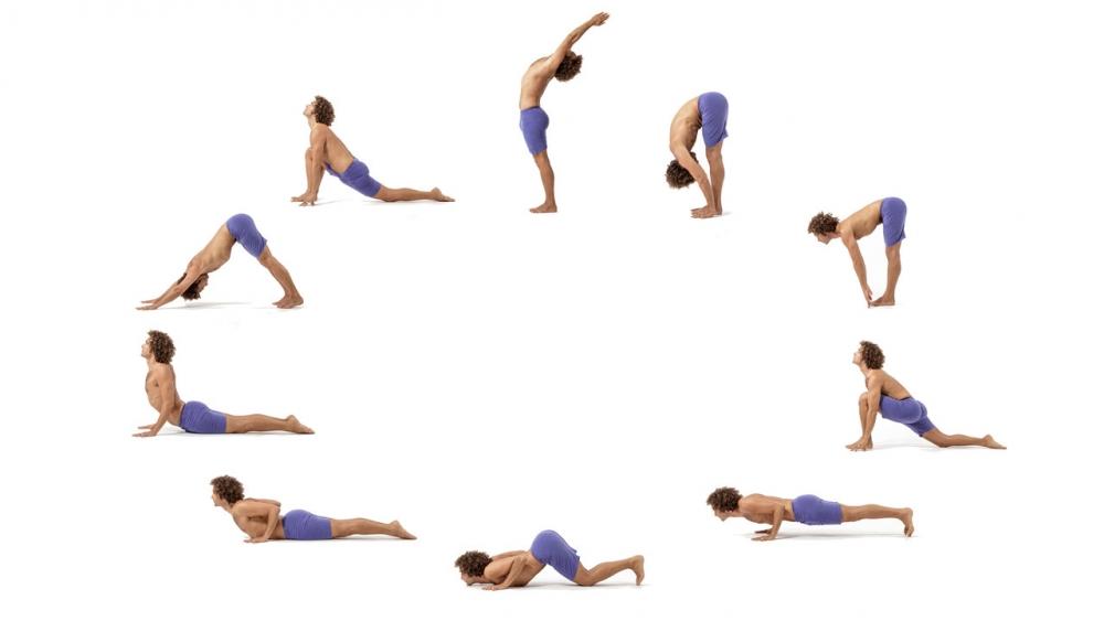 Surya Namaskara or Sun Salutations Yoga for weight loss