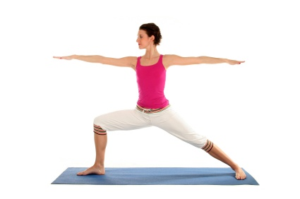 Warrior Two Yoga Pose for weight loss