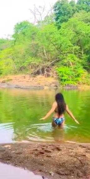 nidhi bhanushali latest bikini video pictures
