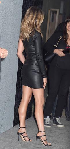 Jennifer Aniston in HOt Leather dress