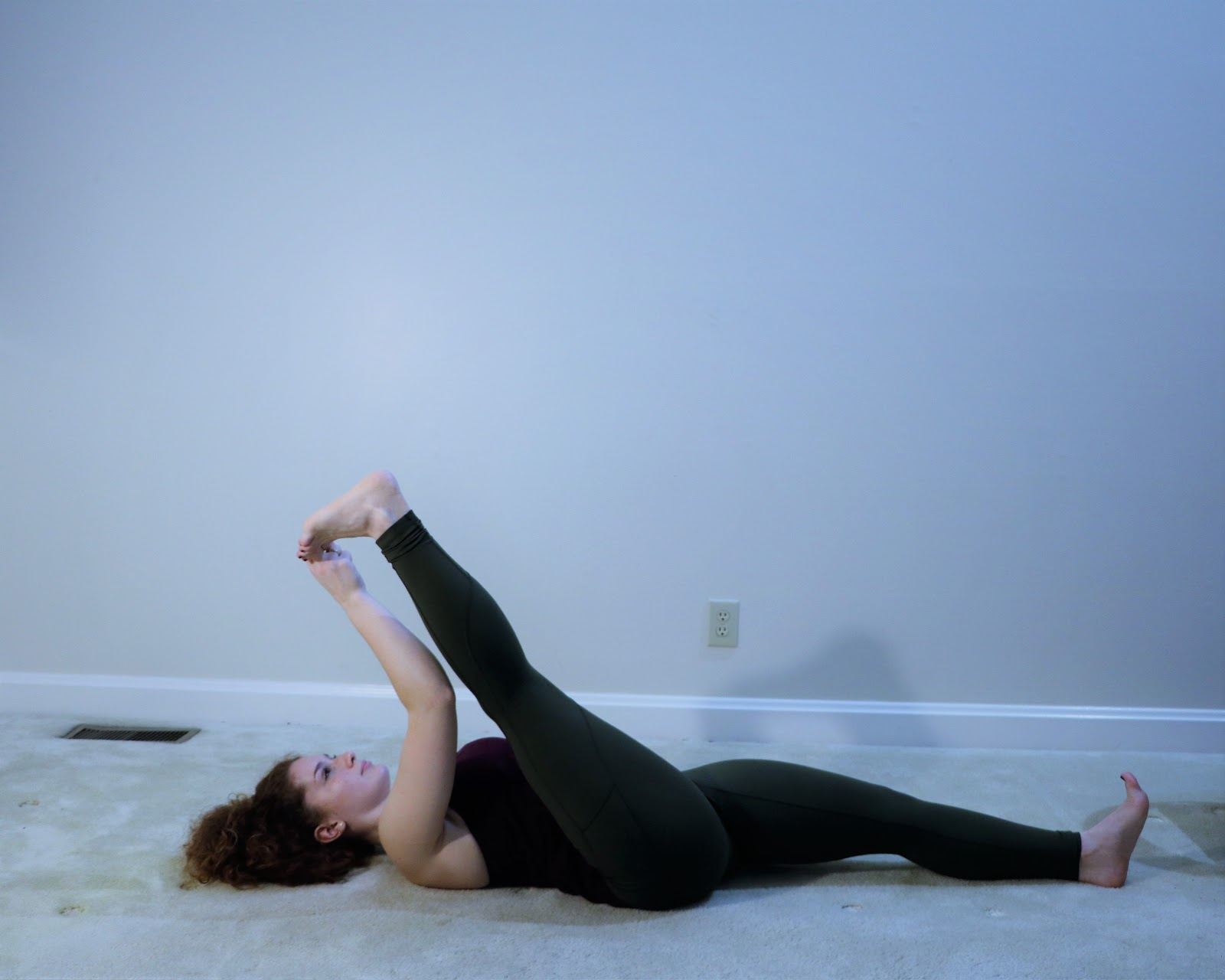 Yoga for flexibility-Supta-Padangusthasana