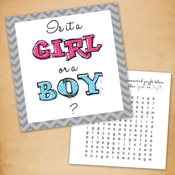 Gender Reveal Puzzles