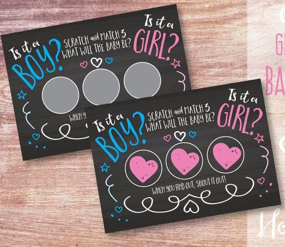 Gender Reveal Scratch Cards