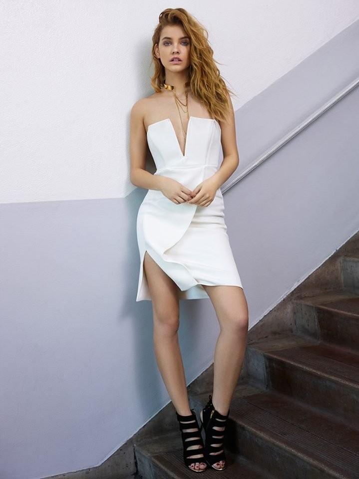 barbara-palvin-in hot white dress