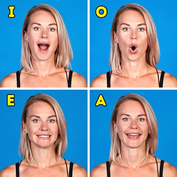 Face Exercise to get rid of double chin