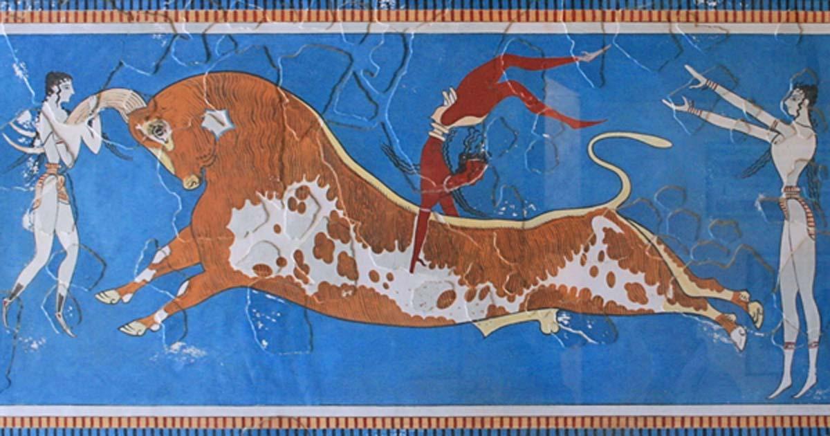 greek mythology facts - Bull-Leaping