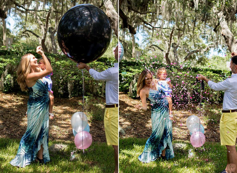 pop the balloon gender reveal idea
