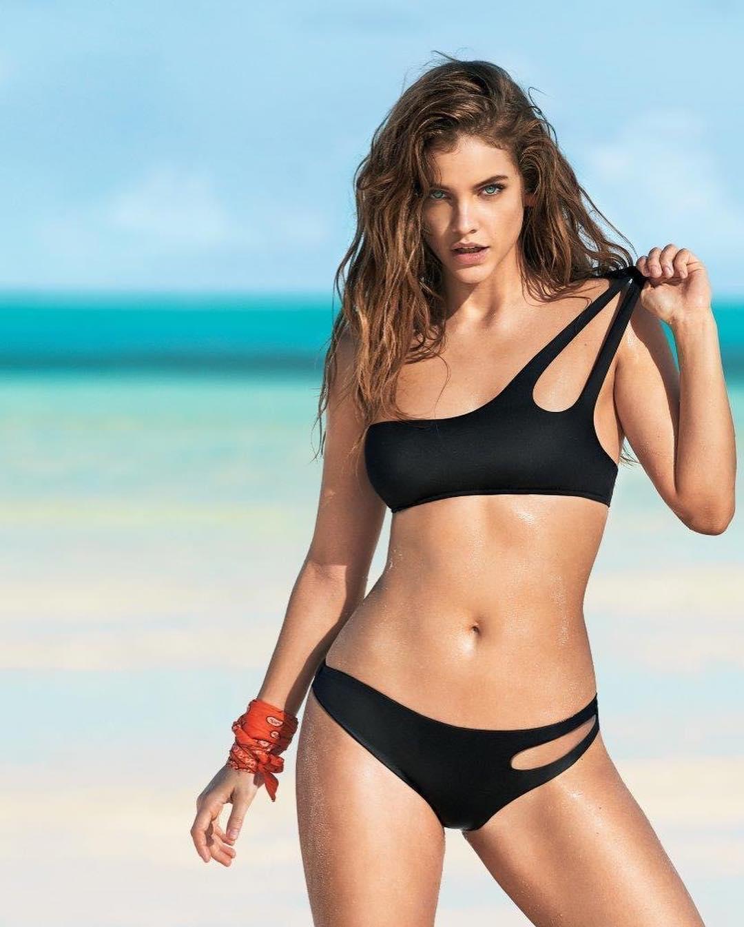 real barbara palvin in black bikini