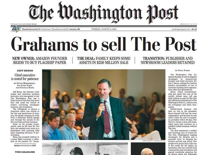 top 10 newspapers in the world - The Washington Post