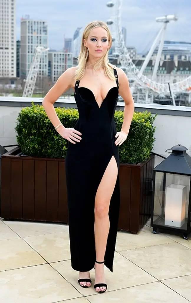 Jennifer Lawrence hot black dress