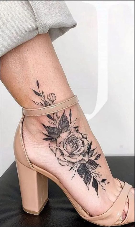 beautiful ankle tattoos for females